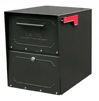 Architectural Mailboxes 6200b10 Oasis Jr. Locking Post Mount Mailbox, Black, on sale