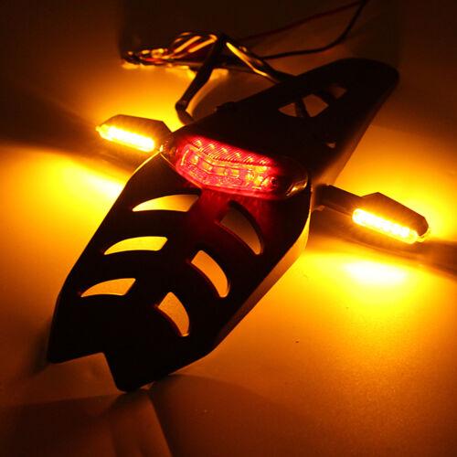Universal Motorcycle Enduro LED Rear Fender Brake Tail Light Turn Signal Lamp