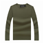 Men Crew Neck Basic Tee Long Sleeve T-Shirt Slim Fit Casual Solid Color S-3XL