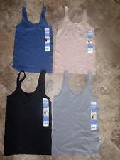 NWT Womens Steel Blue ELLEN TRACY Reversible V-Neck or Scoop Camisole Large L