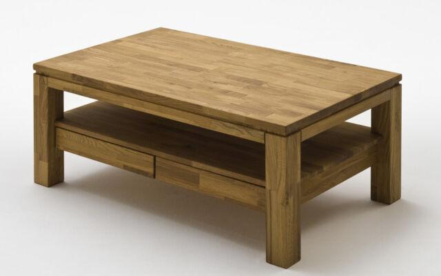 Couchtisch Holz Gordon Wohnzimmertisch Asteiche mit Schublade 8823