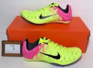 NIKE MENS SIZE 11 ZOOM MAXCAT 4 TRACK & FIELD SHOES WITH WRENCH & SPIKES RIO