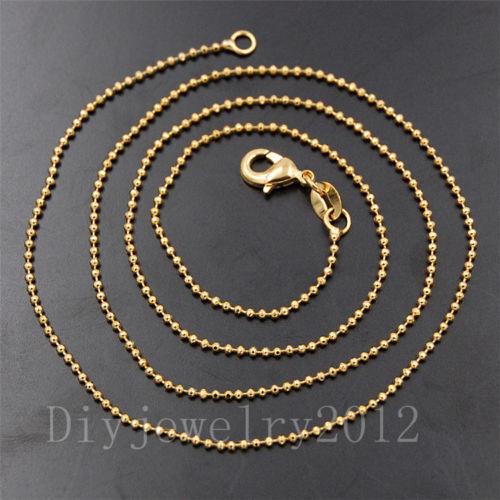 30x50mm pierres naturelles de guérison Reiki Plaqué or Pendentif Colliers Perles