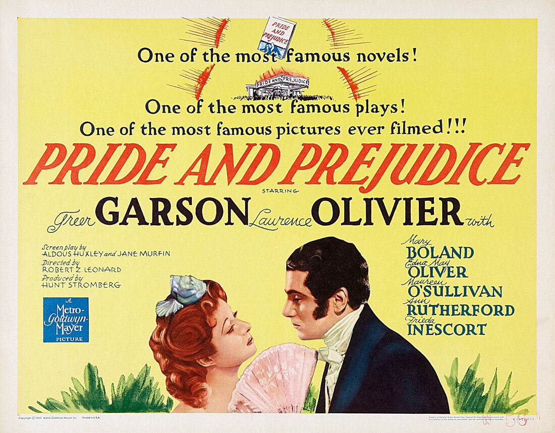 PRIDE AND PREJUDICE - 24 x36  Canvas Classic Movie Poster
