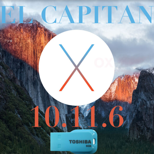 Mac OSX El Capitan 10.11.6 installer USB bootable iMac MacBook Pro air Mini OS X