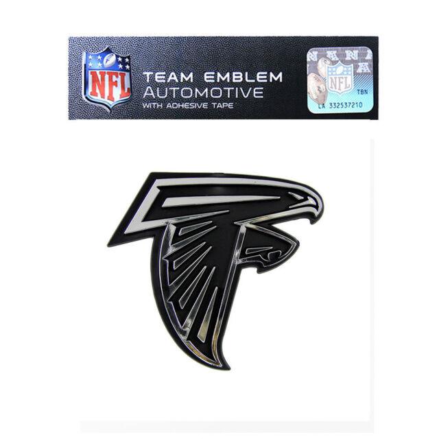 Nfl Nf02 Atlanta Falcons Logo Chrome Auto Emblem 3x3 Ebay