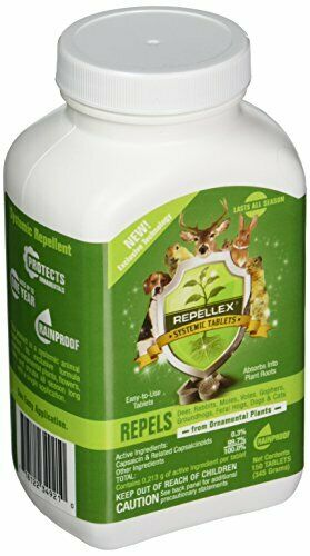 Systemic Animal Repellent for Repelling Deer Rabbits Voles Gophers (150 Tabs)