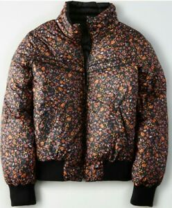 pour Puffer Nwt Sm noir Veste femme Eagle Outfitters American réversible floral xwwqYSFI