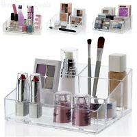 Makeup Palette Storage Organizer Cosmetics Stand Nail Polish Holder Plastic Case