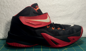 126098838dd Nike Lebron Soldier VIII Black Red Basketball Shoes Sneakers~Size 7Y ...