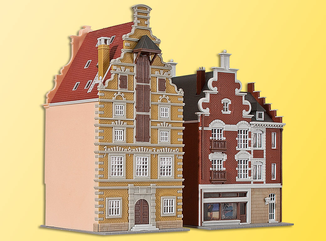 37167 Kibri N Gauge Kit of Middle-class houses, 2 pieces