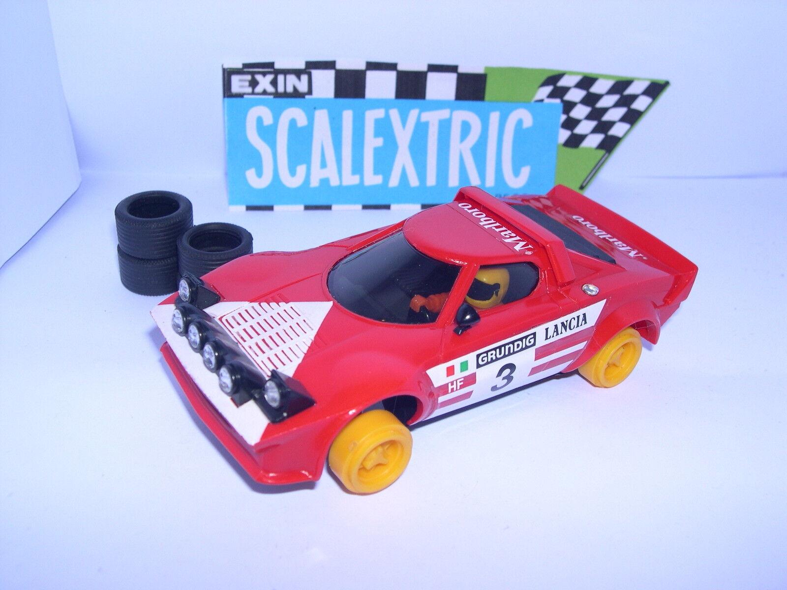 Scalextric Exin C-4055 Lancia Stratos HF  3 rot 2 Grad Serie Ausgezeichnet