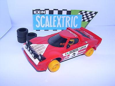 Elektrisches Spielzeug Scalextric Exin C-4055 Lancia Stratos Hf #3 Red 2grad Serie Ausgezeichnet Easy And Simple To Handle