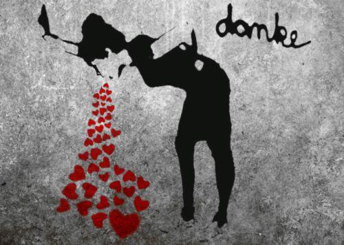 ZEIT4BILD BANKSY LOVESICK Wandmalerei GRAFIKEN LEINWAND BILDER GICLEE LOVE PRINT