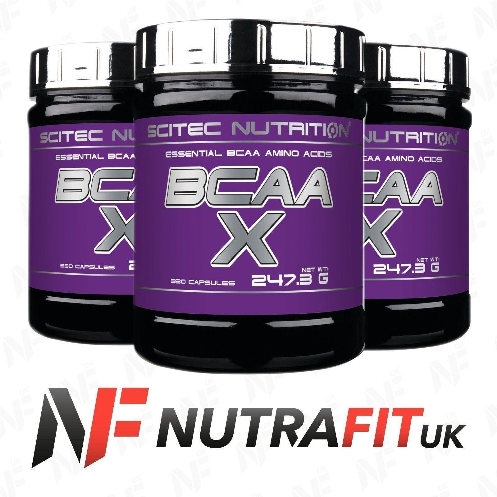 Scitec Nutrition Bcaa X 120 Capsules Essential Amino Acids Ultimate 500mg Caps Bodybuilding Ebay