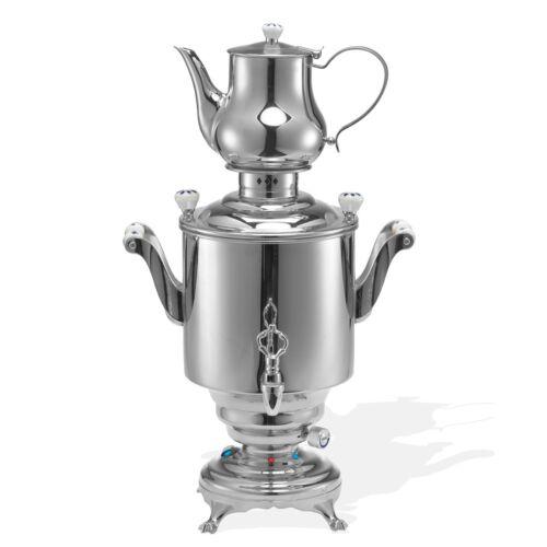 Stainless Steel Samovar 5 Liters Silver BEEM Romanov III