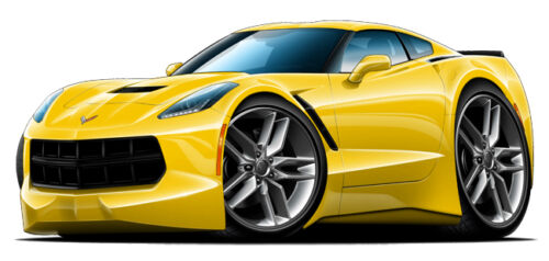 """2015 Corvette Stingray Wall Decal Sticker Graphic 12/"""" x 24/"""" Size Free Shipping"""