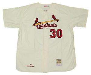 buy online fed60 e694c Details about Orlando Cepeda St. Louis Cardinals Mitchell & Ness Auth 1967  Jersey-Cream 4XL/60