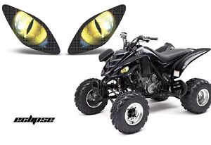 yamaha raptor 700 yfz 450 350 yfz450 quad headlight stickers graphics eyes ebay. Black Bedroom Furniture Sets. Home Design Ideas