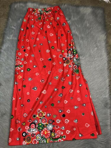 Vintage Womens Nelly De Grab Red Polyester Novelty