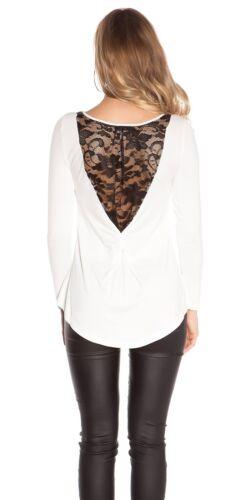 Koucla Shirt Top Spitzenshirt Shirt Bluse mit Spitze