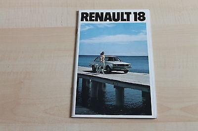 Sales Brochures Renault R 18 Prospekt 197? 150657