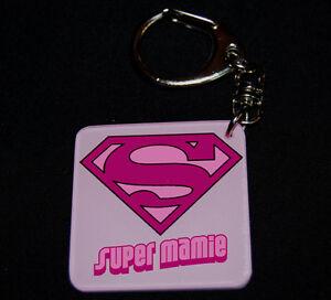 Porte-clés SUPER MAMIE modele 1 cadeau fête des grands-mères
