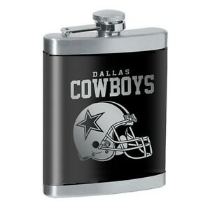 Image is loading NFL-DALLAS-COWBOYS-FLASK-8oz-STAINLESS-STEEL-LASER- f6142b0a88a