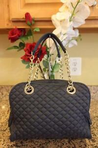 6caba9327722 Image is loading Dolce-and-Gabbana-LILY-GLAM-QUILTED-NAVY-BAG-