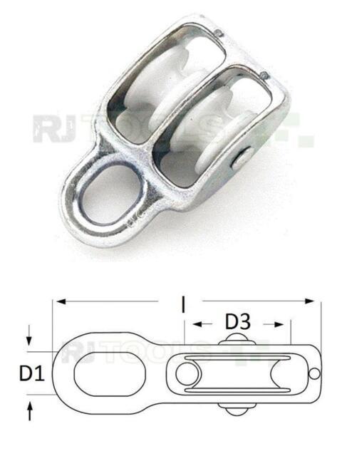 25 x Seilrolle Umlenkrolle Blockseilrolle Vogelrolle - 25 mm doppelt - 931124