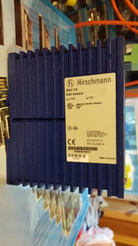 10//100Mbps USED HIRSCHMANN RS2-TX RAIL SWITCH//ETHERNET SWITCH 8 PORTS 24 VDC