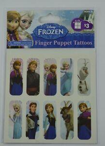 Brand-New-Disney-FROZEN-Finger-Puppet-Tattoos