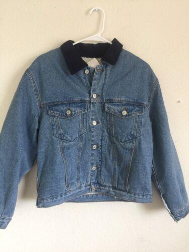 Brandy Melville light wash blue denim sherpa Shaine denim jacket NWT sz S//M New
