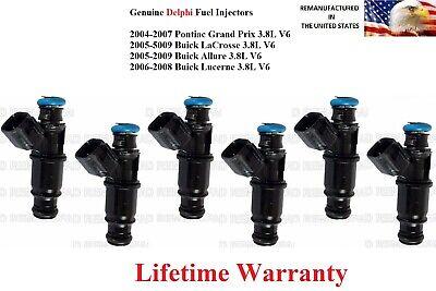 Upgrade Genuine Original Delphi 6x Fuel Injectors 25323971 3.8L V6 3800