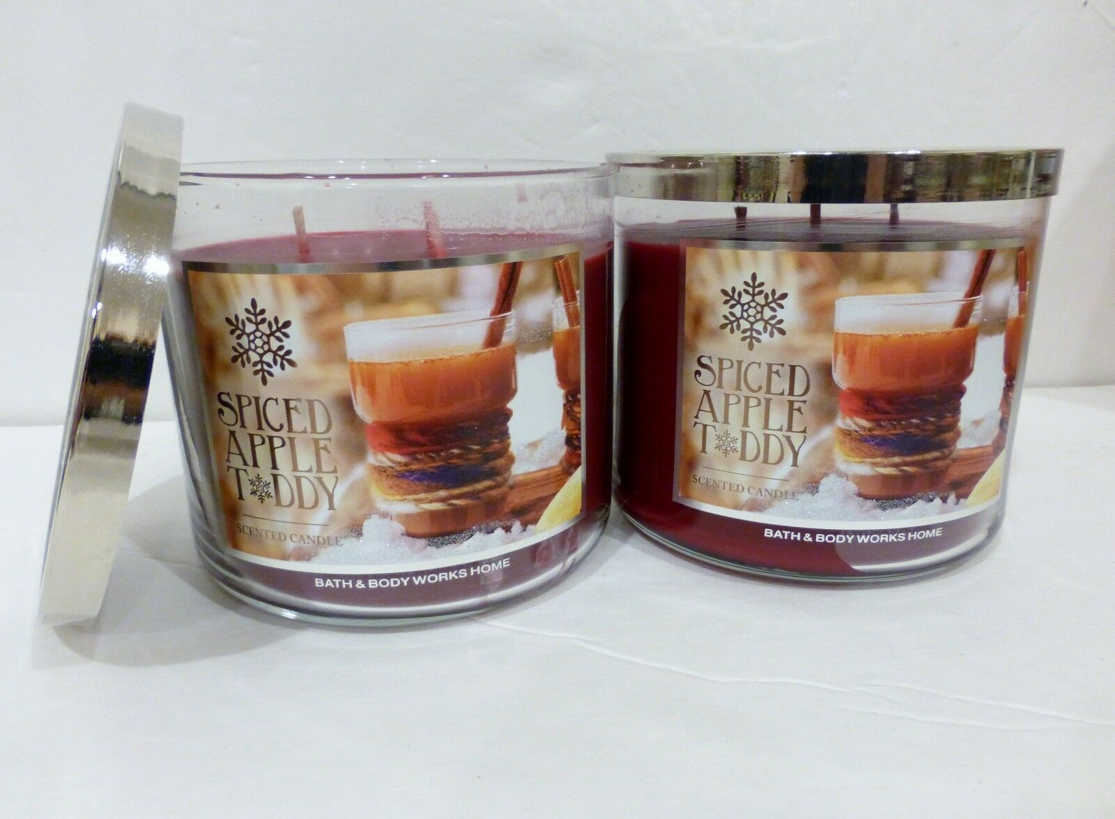 2 Spiced Apple Taddy Bath & Body Works Scented Candle 14.5 Oz NEW
