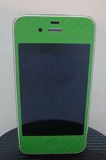 iPhone 4S 4D Carbon Fiber Full Body Skin Vinyl Sticker For 4S