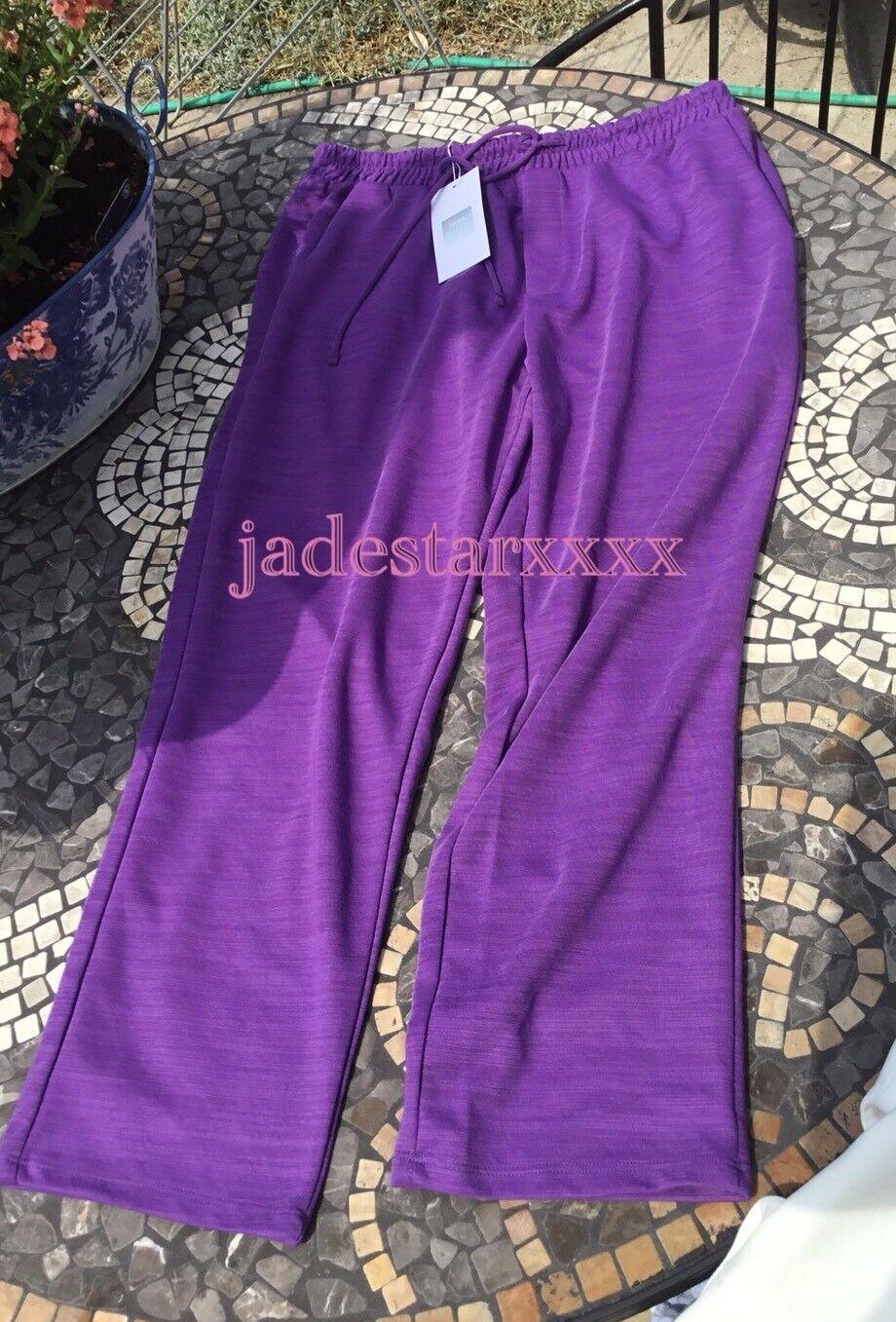 Viola Zara ORD medio piccoli Co S S S M 8 10 nuovi pantaloni sportivi viola Tuta Da Ginnastica Top Nuovo con Etichetta 237d3b