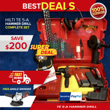 Hilti Te 5 A Hammer Drill Preowned Free Angle Grinder Bits Quick Ship