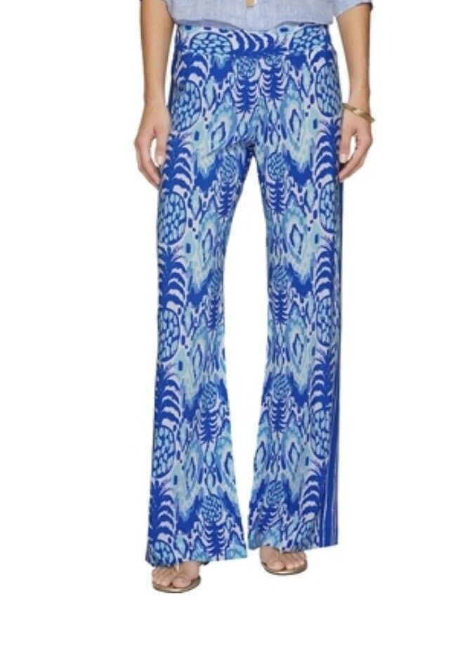 NWT Lilly Pulitzer Serene bluee Bal Harbour Palazzo Trop Call Me Engineered Sz XS