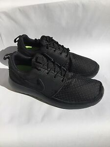 best website a2713 62db8 Image is loading NIKE-ROSHERUN-WVN-Sz6-5-BLACK-BLACK-Anthracite-