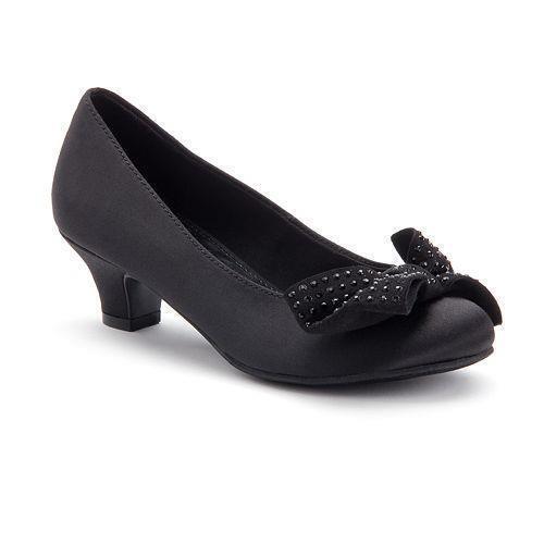 Neuf Filles Jeunes Bonbons Fiara Satin Robe Chaussure Style 160089 noir 178 L pr