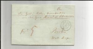 Preussen-V-WESEL-7-12-K2-1854-auf-Kabinett-Tax-Brief-m-Inhalt-n-Berlin