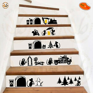 Adesivi Murali Decora Scale Family Topini Scontornati Mouse Job Wal Sticker Large SéLection;