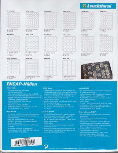 Lot of 6 Lighthouse Grande Encap Page Euro Set Coin Capsule fits 3//4 Ring Binder