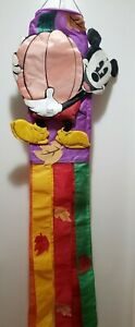 Vintage-Mickey-Mouse-3D-Windsock-Halloween-Pumpkin-Flag-51-Inches-Wind-Sock