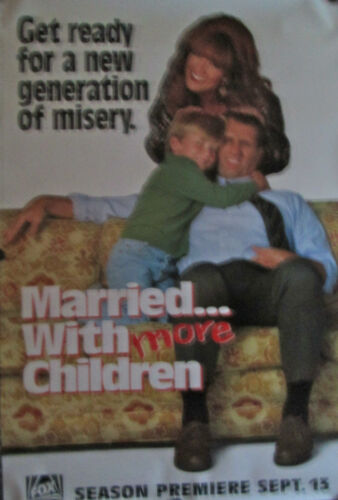 """MARRIED WITH MORE CHILDREN FOX TV 1990/'S ORIG POSTER 40/"""" X 27/"""" MINT ROLLED"""