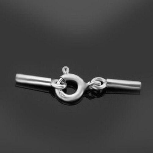 Sterling Silver Set ring Clasp /& End Caps 2.0mm internal size New free delivery