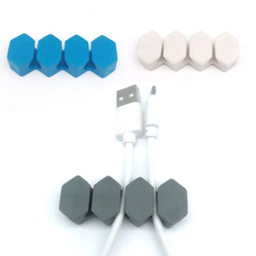 Cable clips tidy organiser wire cord lead usb chargers holder fixer winder clips