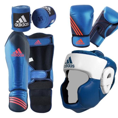 Adidas boxing set Gloves Head Guard+ Wrap Shin Guard Mouth Guard