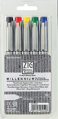 Zig Millennium 005 Fine Line Artist Colour Drawing Pen Scrapbooking 0.2mm Line
